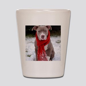 Holiday Pit Bull Shot Glass